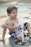 глаз мальчика закрытый Стоковое Фото