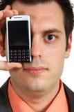 глаз мобильного телефона его человек Стоковое фото RF