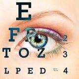 Глаз с диаграммой зрения испытания Стоковые Изображения RF