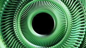 Глаз цепи металла жидкости двигая вращая зеленый объезжает качество безшовной предпосылки графиков движения анимации 3d петли нов иллюстрация вектора