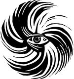 Глаз шторма урагана Стоковая Фотография RF