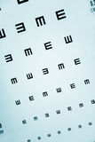 глаз экзамена диаграммы Стоковая Фотография RF