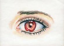 глаз яблока мой иллюстрация штока