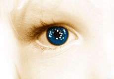 глаз s кануна Стоковая Фотография