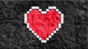Глина механизма прерывного действия сделала шарж формы сердца пиксела handmade как seamles анимации закрепить петлей - новая каче акции видеоматериалы