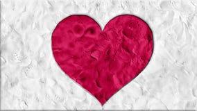 Глина механизма прерывного действия сделала шарж формы сердца handmade как seamles анимации закрепить петлей - новый качественный сток-видео