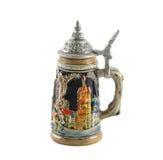 глиняная кружка пива Стоковое Изображение