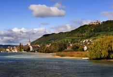 глиняная кружка Швейцария rhein Стоковые Изображения RF