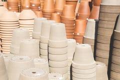 Глиняные горшки стоковое фото