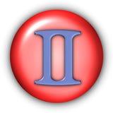 глифы gemini Стоковое Изображение RF