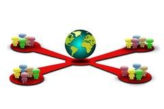 глобальная вычислительная сеть Стоковое Изображение RF