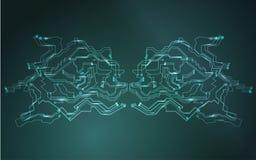Глобальная диаграмма компьютерной сети Данные и связь интернета Концепция безопасностью сети кибер футуристическая финансовая