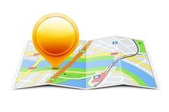 Глобальная принципиальная схема навигации Стоковые Изображения