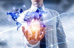 Глобальная связь и сеть Стоковая Фотография RF