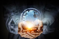 Глобальная связь и сеть стоковые фото