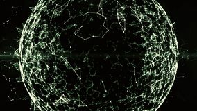 Глобальная сеть blockchain в цифровом виртуальном пространстве Анимация финансовых или социального фона для Cryptocurrency 4K loo иллюстрация вектора