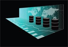 Глобальная торговая операция масла Стоковые Изображения RF