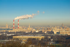 глобальное потепление городского пейзажа Стоковая Фотография RF