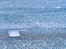 глобальное потепление Плавить сломленного ледника в заливе Ландшафт весны с плавить ледяного поля Стоковое Изображение RF