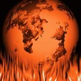 глобальное потепление иллюстрация штока
