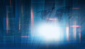 Глобальное цифровое взаимодействие с высокотехнологичной концепцией экрана иллюстрация штока