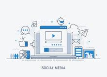 глобальные вычислительные сети и социальная концепция средств массовой информации бесплатная иллюстрация