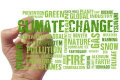 Глобальные изменения климата отправляют SMS предпосылке слов стоковая фотография rf