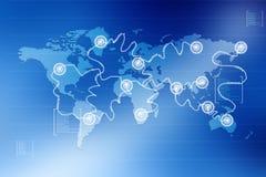 Глобальные соединения Стоковые Изображения