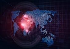 Глобальные технологии средств массовой информации стоковое изображение