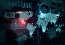 Глобальные технологии средств массовой информации стоковое изображение rf
