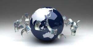 Глобальный бизнес с южно-африканскими рандами иллюстрация штока