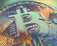 Глобальный бизнес Cryptocurrency цифров Стоковая Фотография RF