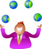 глобусы жонглируя бесплатная иллюстрация