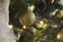 Глобусы и рождественская елка Стоковое Фото