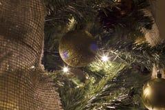 Глобусы и рождественская елка Стоковые Фото