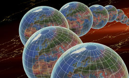 глобусы множественные Стоковое Изображение