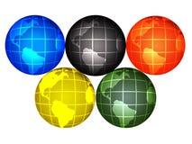 глобусы олимпийские Стоковые Изображения