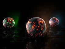 глобусы пожара Стоковое Изображение RF