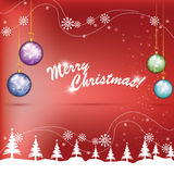 Глобусы рождества цветастые Стоковая Фотография