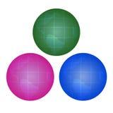 глобусы цвета Стоковое Фото
