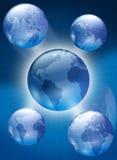 глобусы иллюстрация вектора