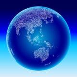 глобус Азии Австралии цифровой Стоковые Фотографии RF