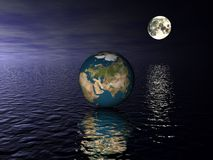 глобус Азии Стоковые Изображения RF