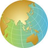 глобус Азии иллюстрация штока