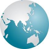 глобус Азии Стоковая Фотография RF