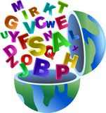 глобус алфавита Стоковое Фото