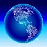 глобус Америк цифровой Стоковое Фото