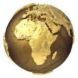 Глобус Африка золота бесплатная иллюстрация
