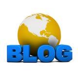 глобус блога Стоковые Изображения