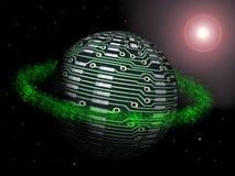 глобус высокотехнологичный Стоковая Фотография RF